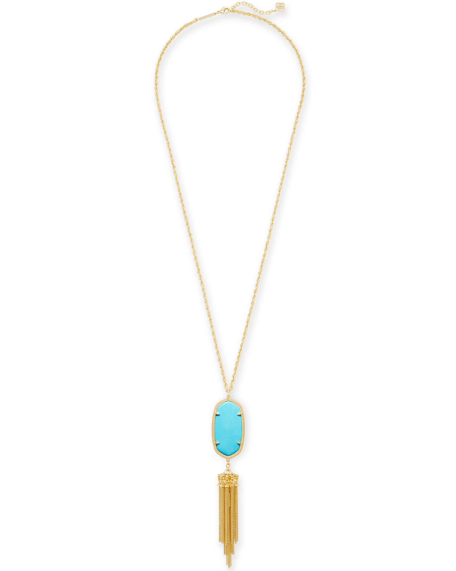 Rayne GoldLong Pendant Necklace in Turquoise | Kendra Scott