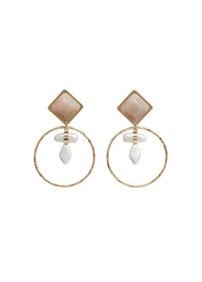 Violeta BY MANGO Bead loop earrings