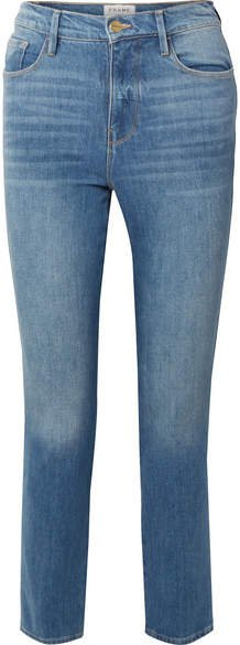 Le Sylvie Cropped High-rise Straight-leg Jeans - Blue