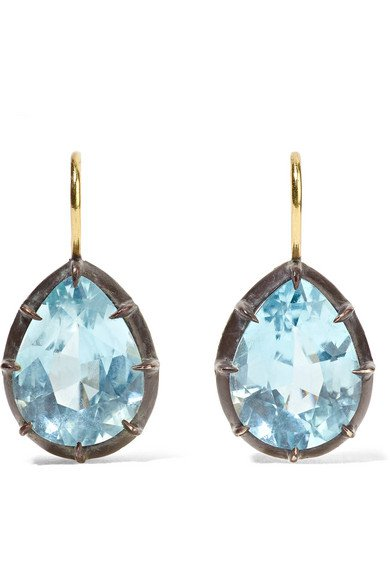 Fred Leighton | Collection 18-karat gold, sterling silver and topaz earrings | NET-A-PORTER.COM
