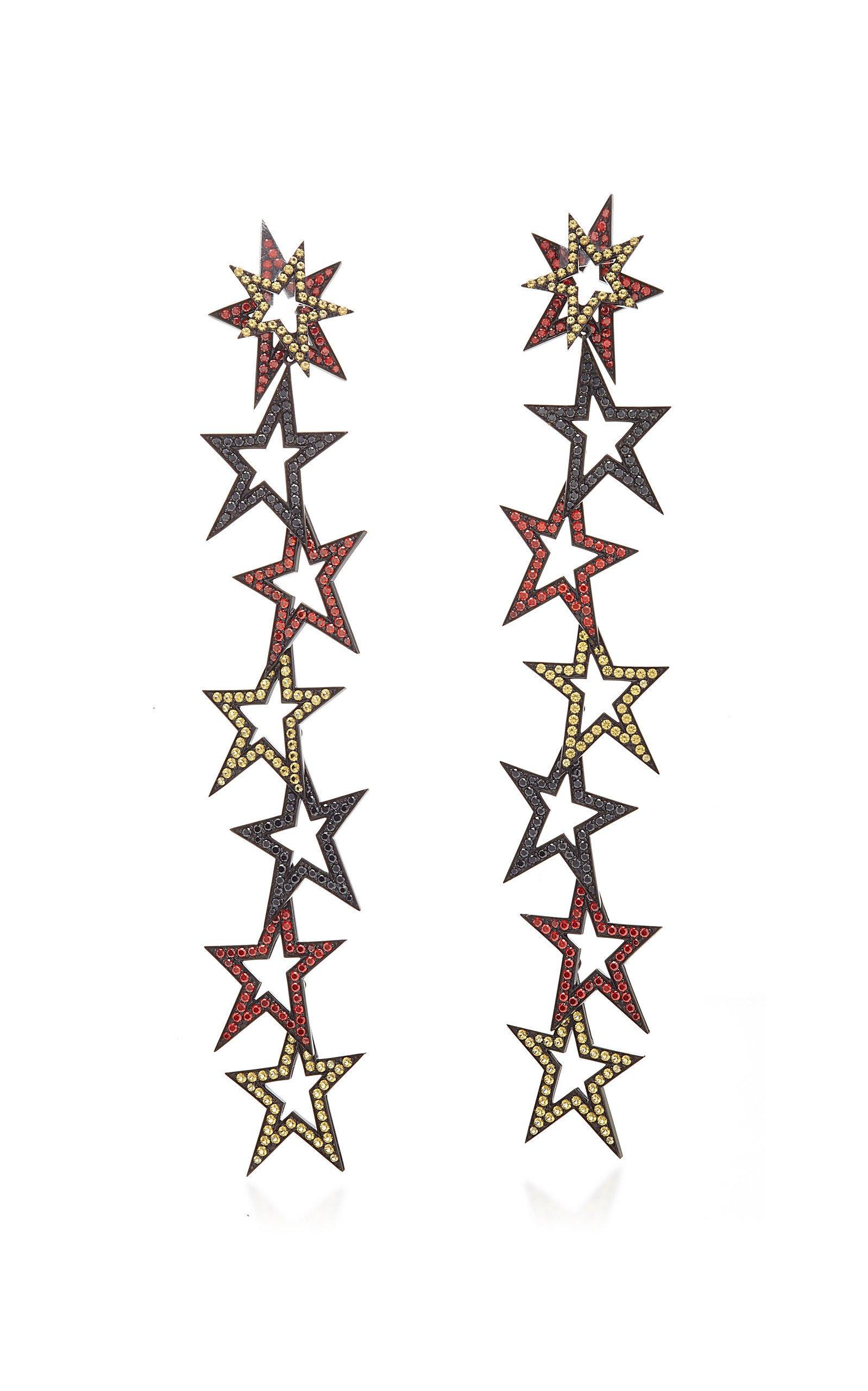 Lynn Ban Jewelry STAGGERED STARDUST CHANDELIER EARRINGS