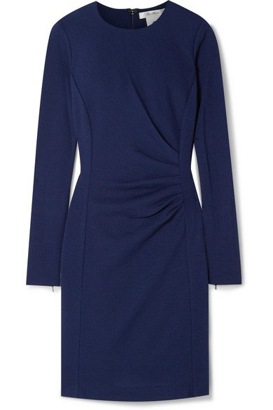 Max Mara | Colimbo ruched wool-crepe dress | NET-A-PORTER.COM