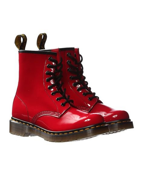 Doc Martens Red Patent Leather Boots