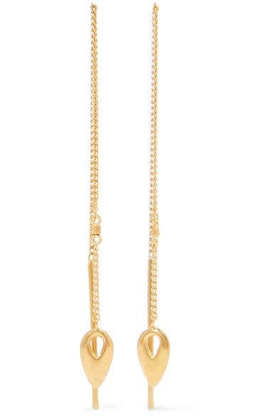 Chan Luu | Gold-plated earrings | NET-A-PORTER.COM