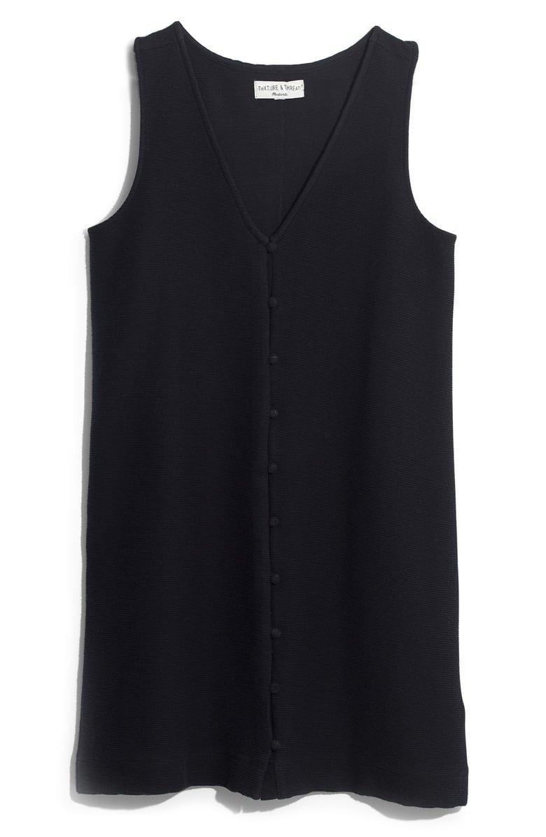 Madewell Texture & Thread Button Front Tank Dress | Nordstrom