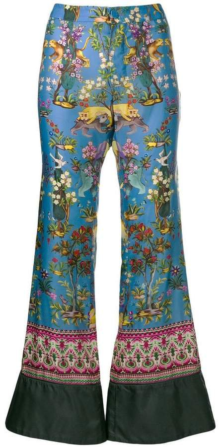 F.R.S For Restless Sleepers asiatic print trousers