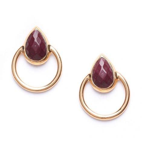 Ori Tao Fakir-Burgundy Earrings