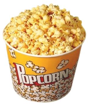 bucket of movie theater popcorn
