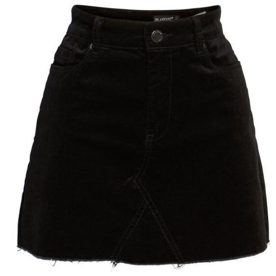 short black denim miniskirt