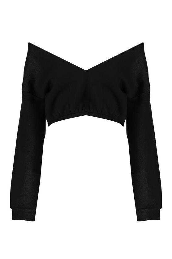 V Neck Crop Sweater | Boohoo