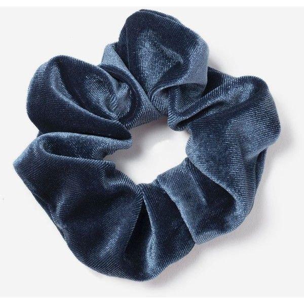 scrunchies blue jean