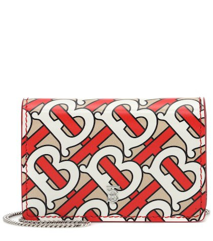 Jessie printed leather chain wallet