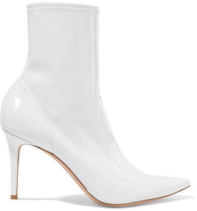 85 Patent-leather Ankle Boots - White