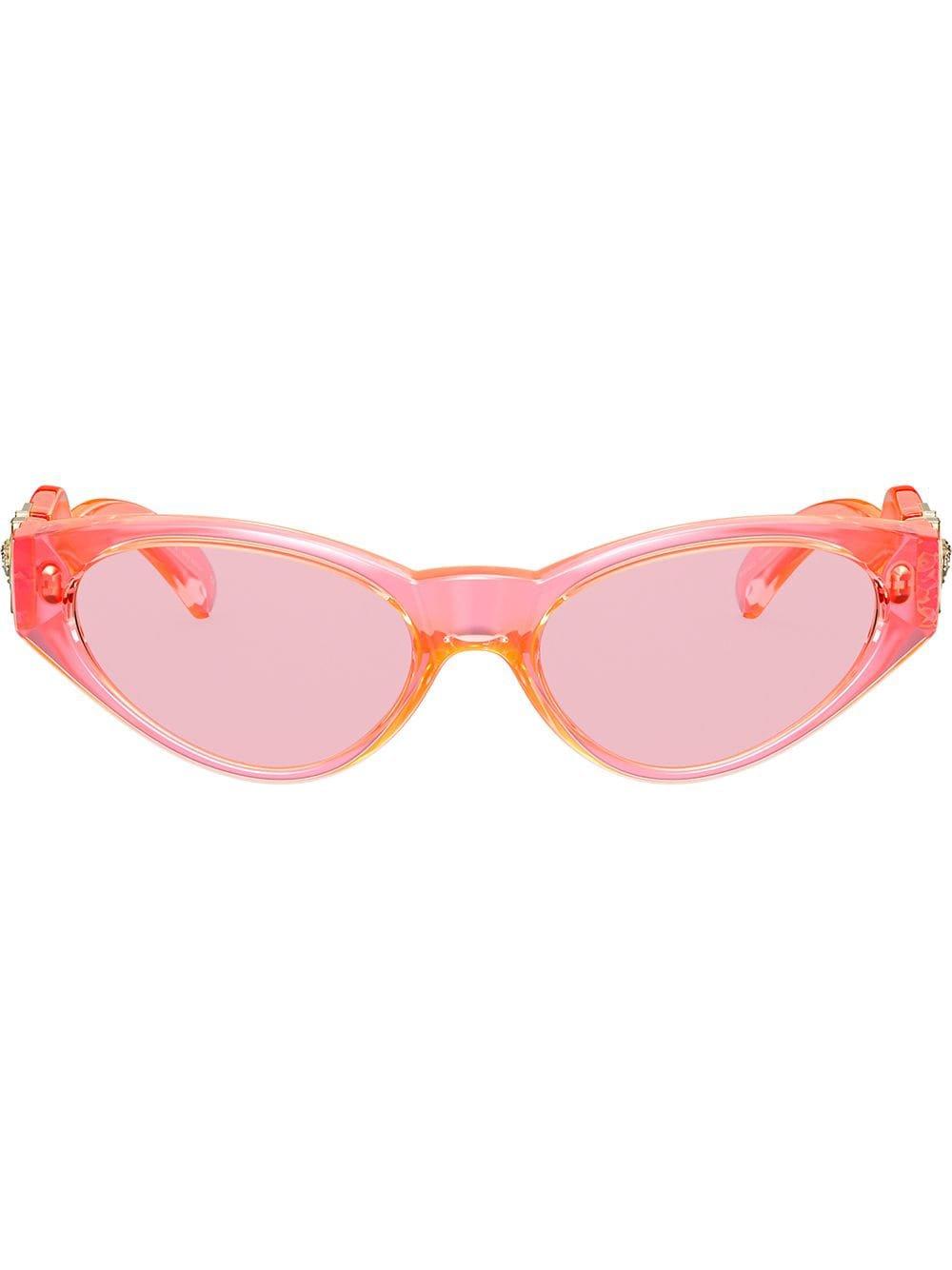 Versace Eyewear Oval Frames Sunglasses