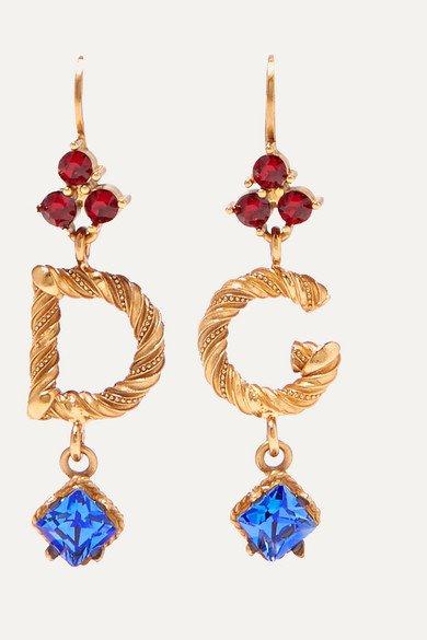 Dolce & Gabbana   Gold-plated crystal earrings   NET-A-PORTER.COM