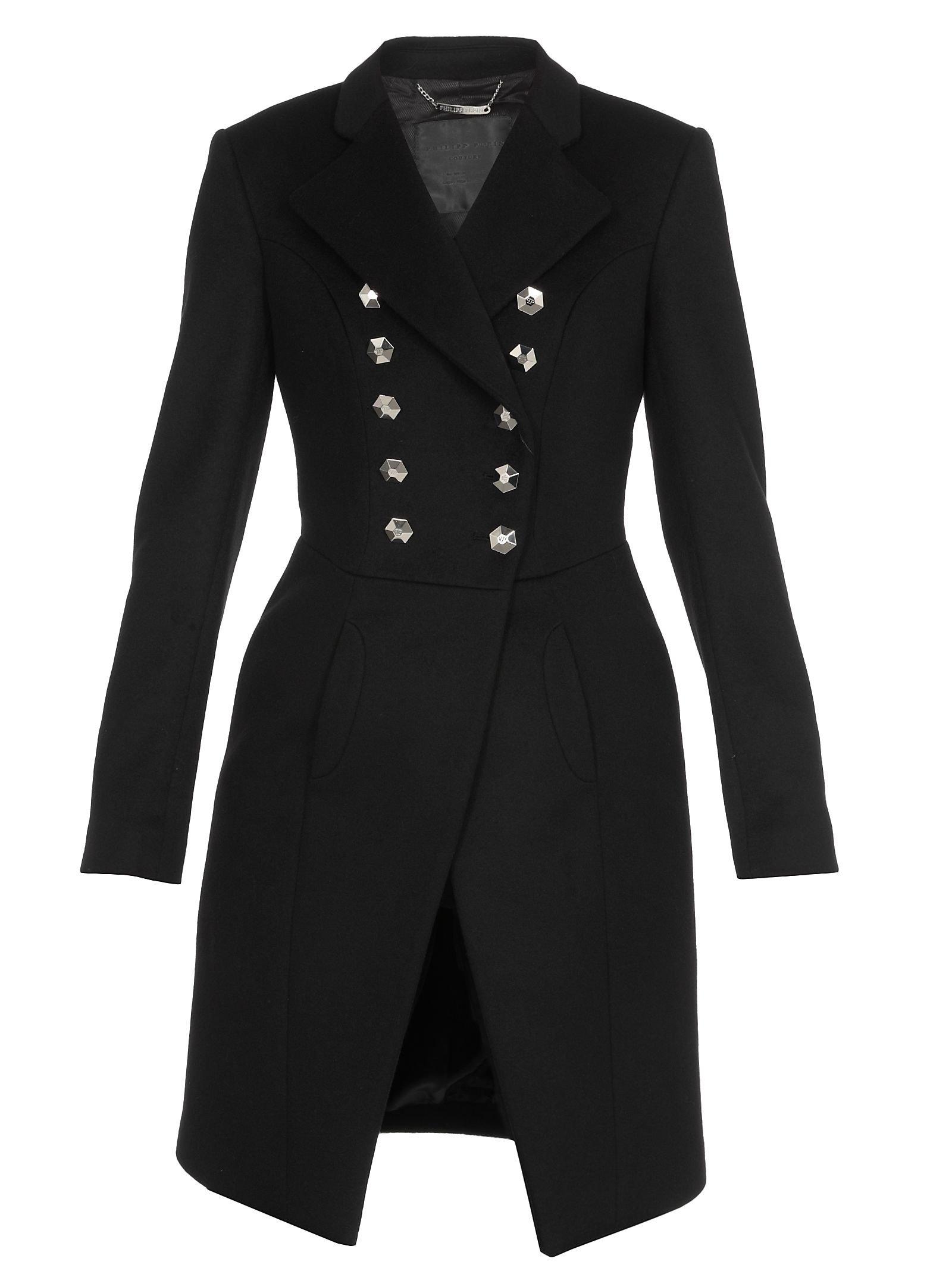 Philipp Plein Elegant Long Coat