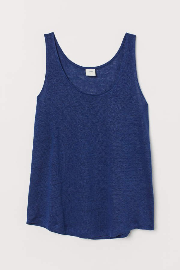 Linen Tank Top - Blue