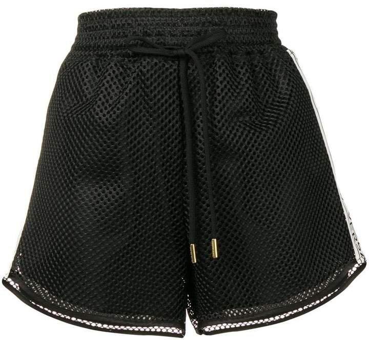 side logo band mesh shorts