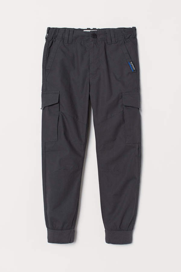 Lined Cargo Pants - Gray