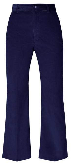Adler Kick Flare Corduroy Trousers - Womens - Blue