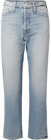 The Huffy Flood Cropped High-rise Straight-leg Jeans - Light denim