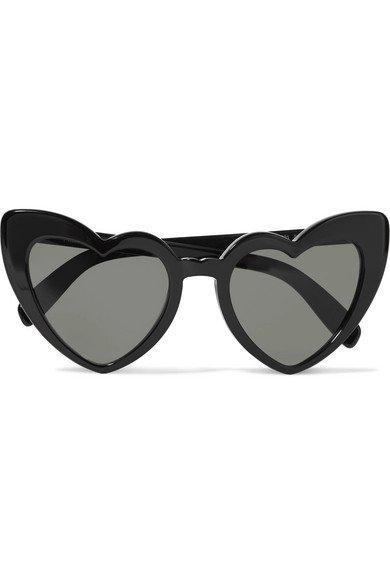Saint Laurent | Loulou heart-shaped acetate sunglasses | NET-A-PORTER.COM
