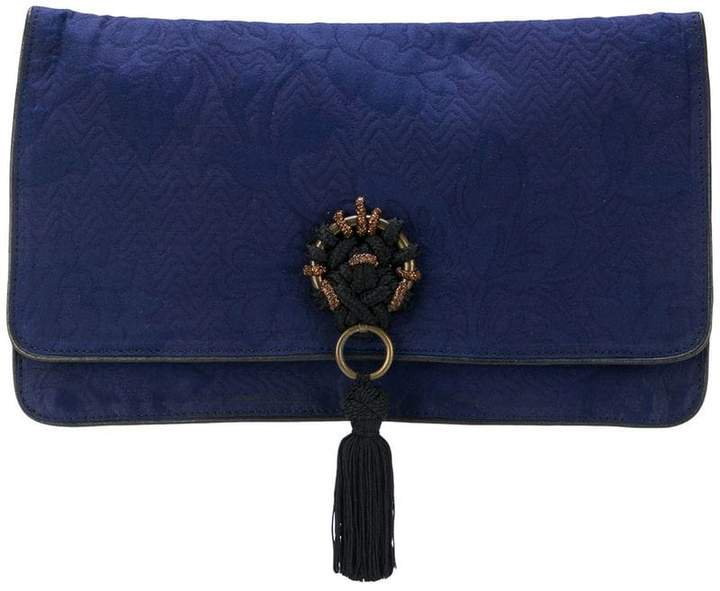 Pre-Owned jacquard clutch bag