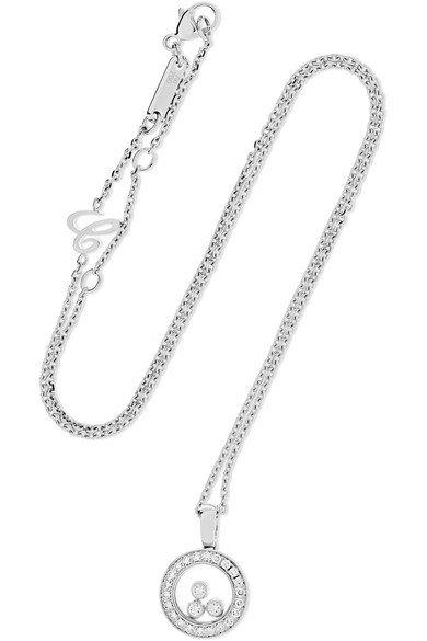 Chopard   Happy Diamonds 18-karat white gold diamond necklace   NET-A-PORTER.COM