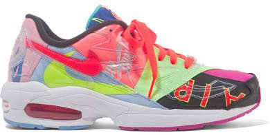 Atmos Air Max2 Light Pvc And Mesh Sneakers - Pink