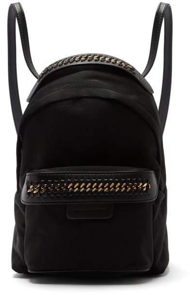 Falabella Go Mini Nylon Backpack - Womens - Black