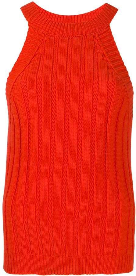 ribbed-knit tank top
