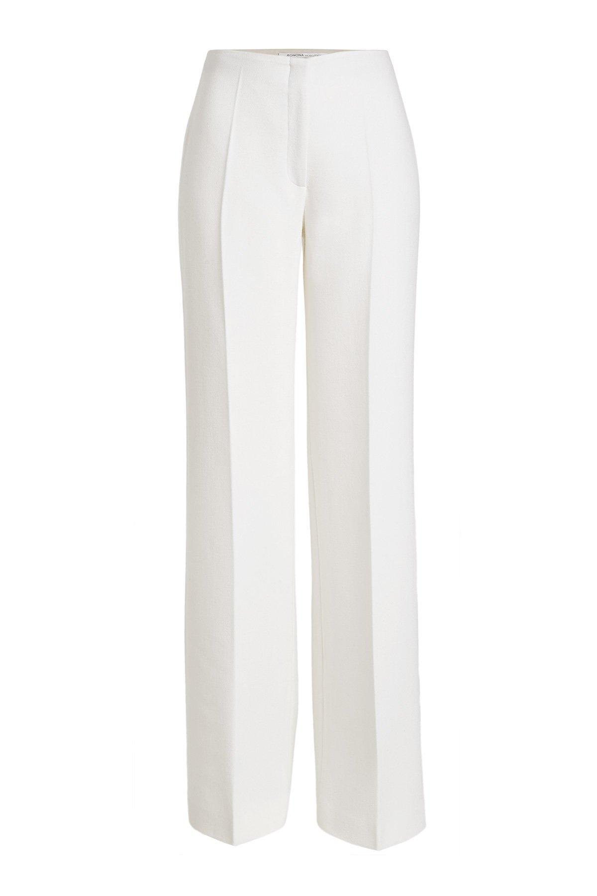 Wool Wide-Leg Trousers Gr. IT 40