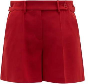 Tailored Crepe Shorts - Womens - Red