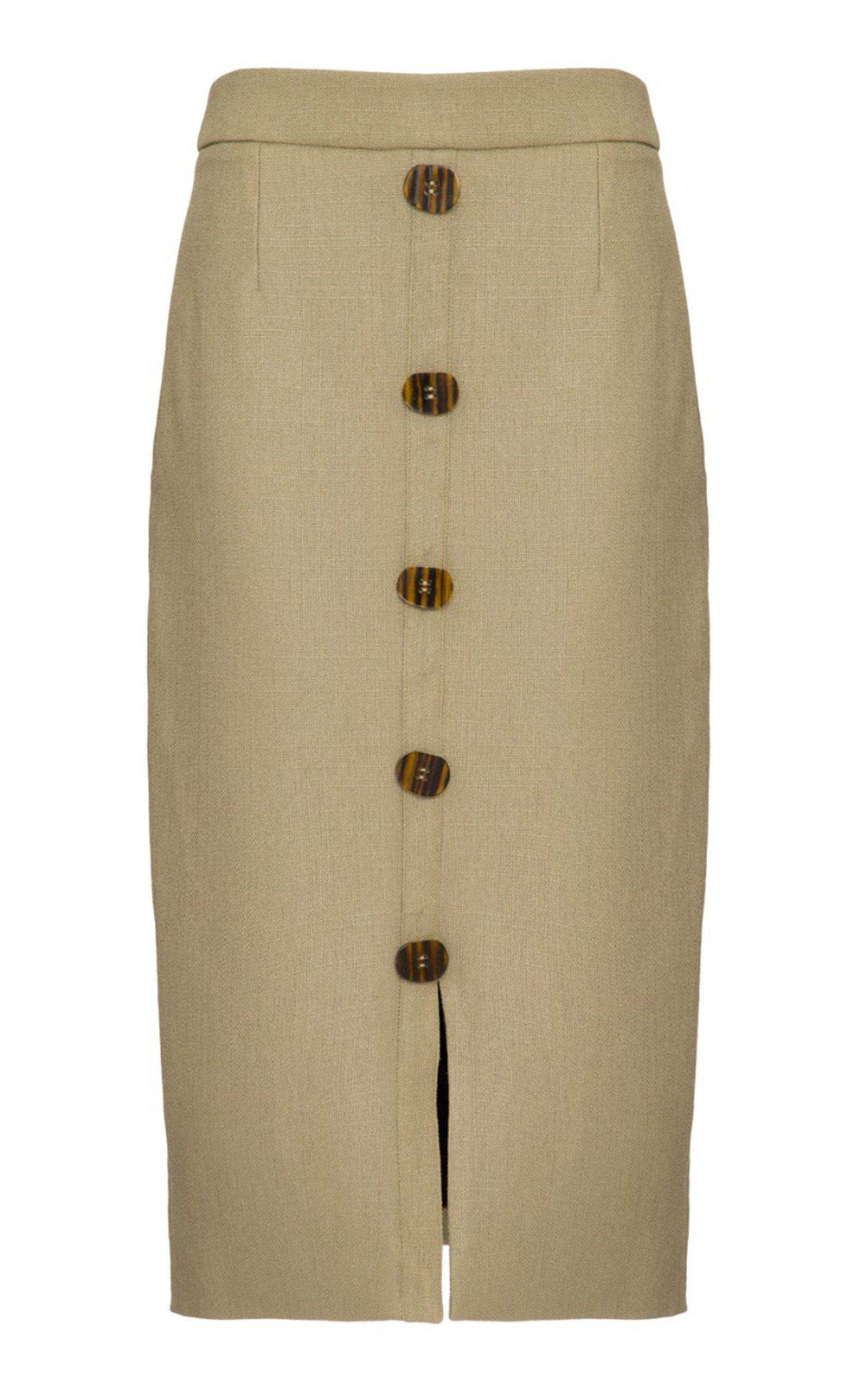 PatBO Linen Pencil Skirt Size: 12