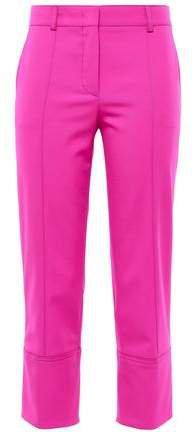 Cropped Wool-blend Twill Slim-leg Pants