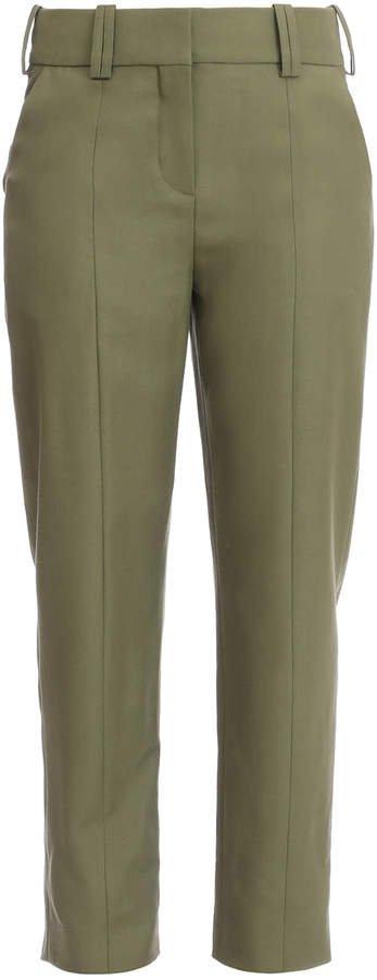 Wool Straight-Leg Trousers