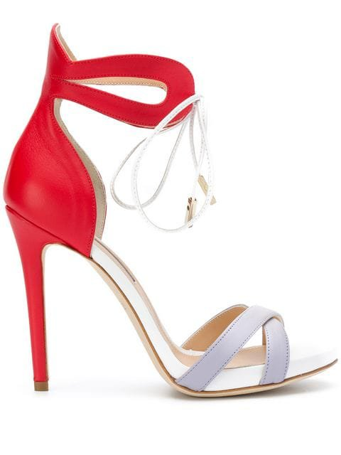 RACINE CARREE tied stiletto sandals