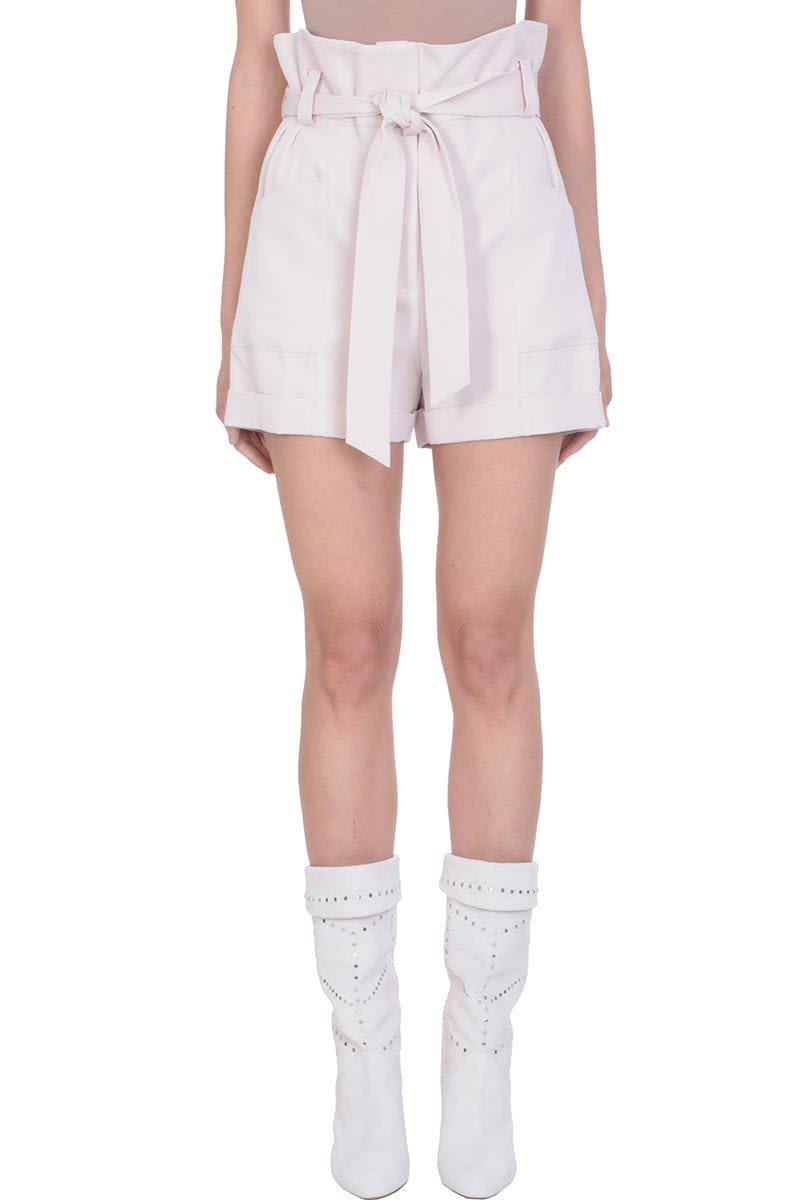 IRO Piralin Pink Viscosa High Waist Shorts