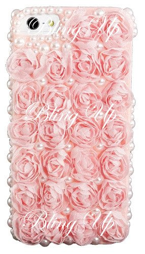 iPhone Pink Chiffon Roses Decoden Cell Phone Case | Japanese Nail Art, DIY Decoden and Cell Phone Cases