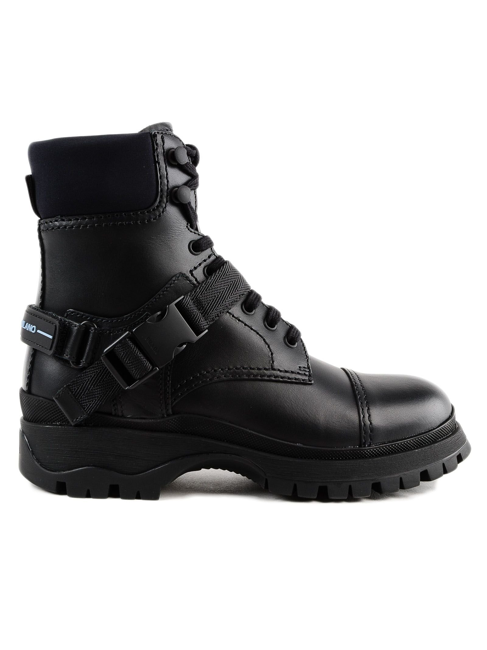 Prada Rodeo Lace-up Boots
