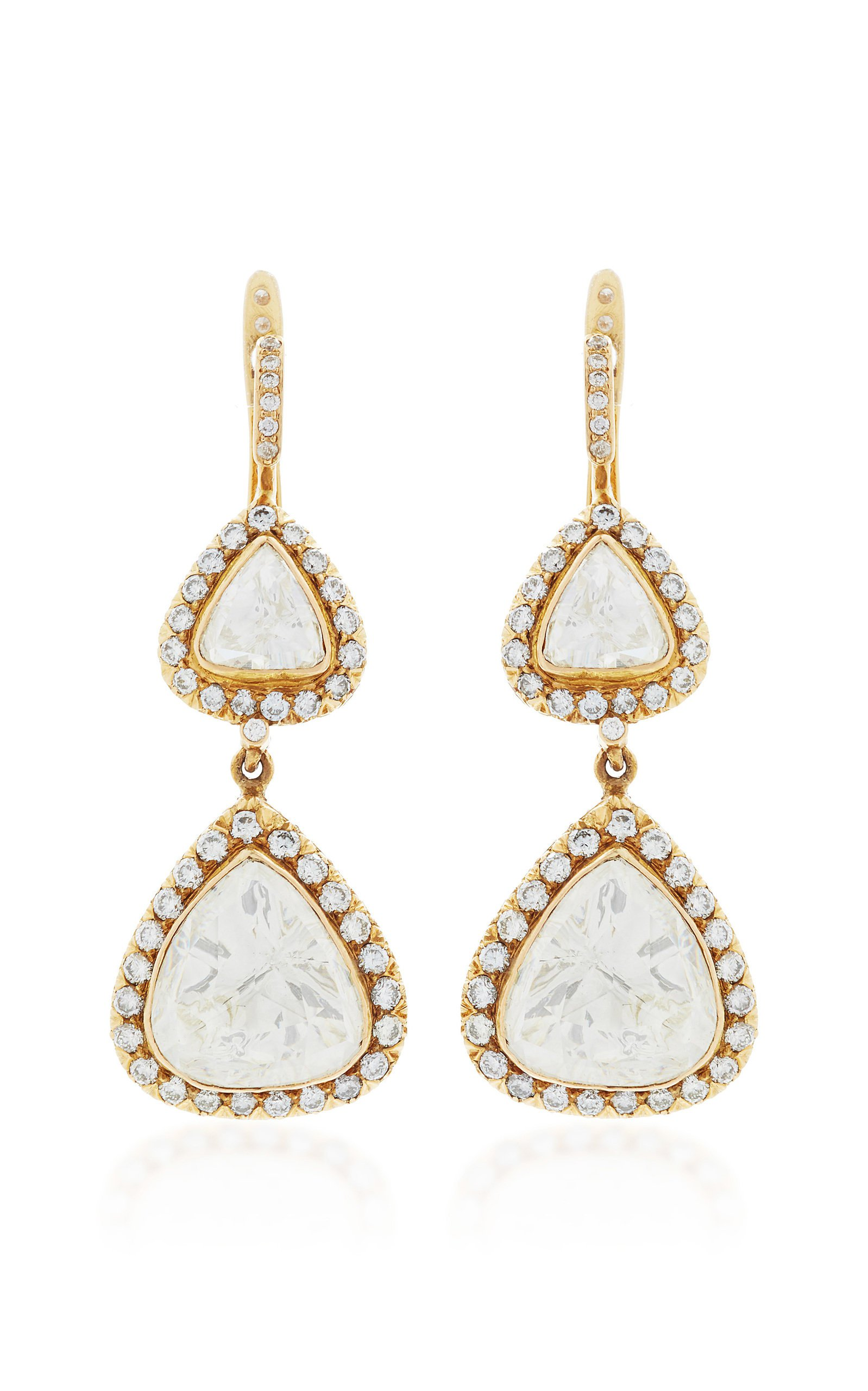 Sanjay Kasliwal 18k Gold and Diamond Royal Earrings