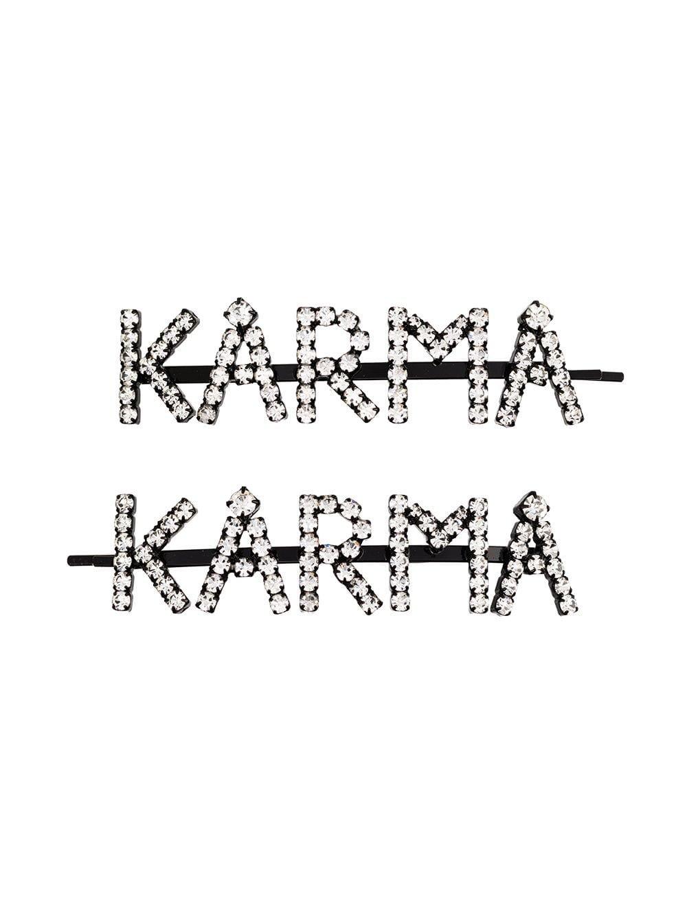 Ashley Williams Karma crystal-embellished Hair Pins - Farfetch