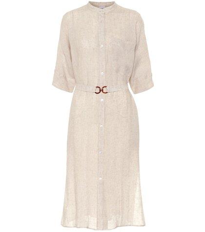 Halle linen canvas shirt dress
