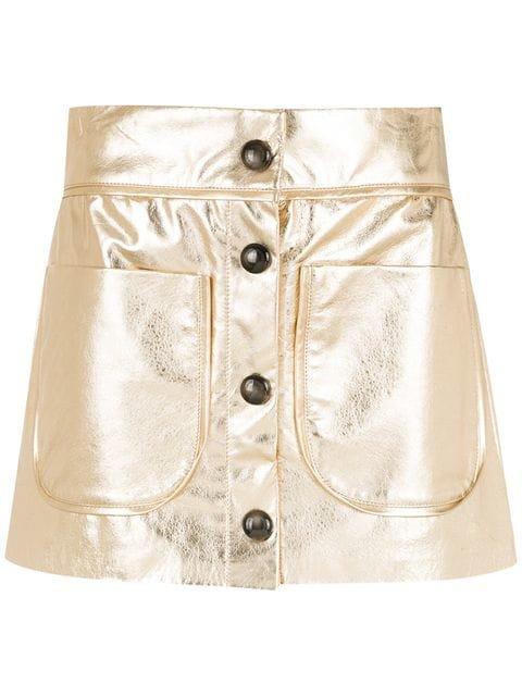 Andrea Bogosian leather skirt