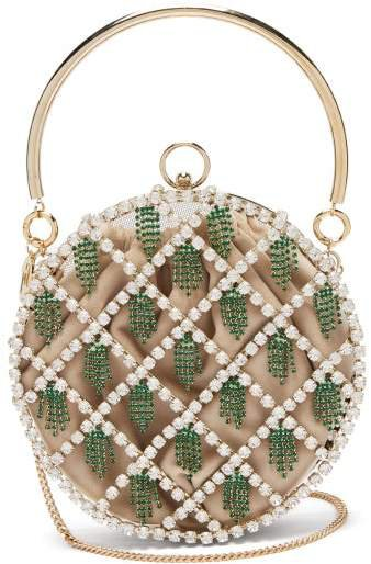 By Michela Panero - Gautier Crystal Embellished Cage Clutch - Womens - Crystal Multi