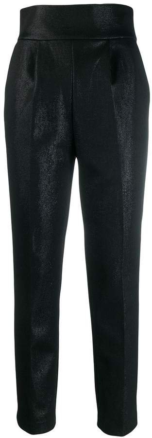 high-waist tapered trousers