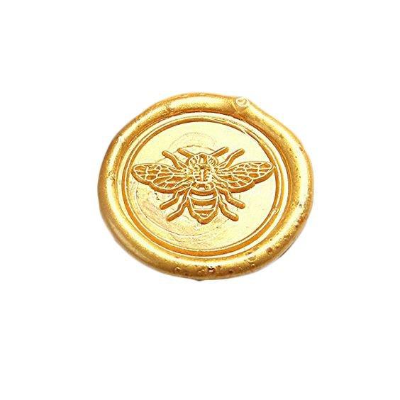 Golden bee wax seal