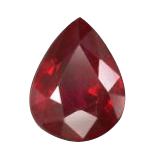 Pear Cut Red Ruby Gemstone