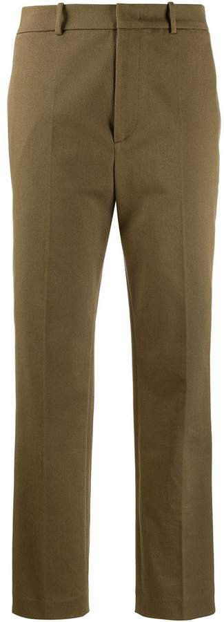 mid-rise tailored trousers