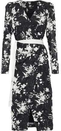 Goen.J Goen.j Floral-print Fil Coupe Georgette Midi Wrap Dress
